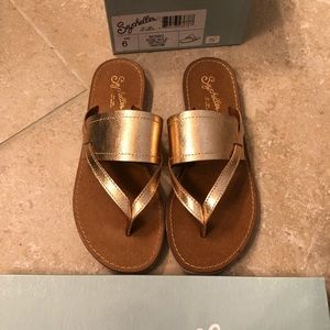 Seychells Rose Gold Slide Sandals